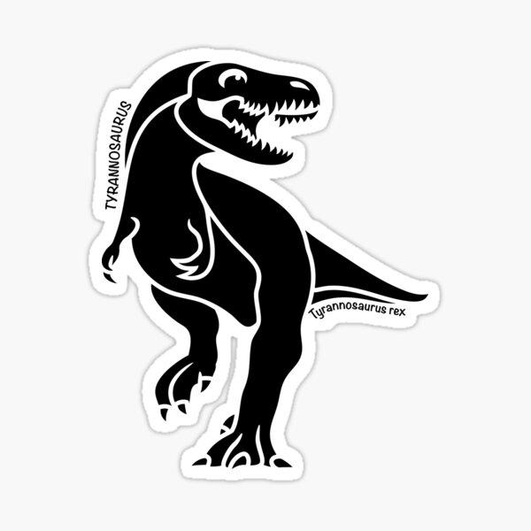 Tyrannosaurus Rex Dinosaur Silhouette with Name Artwork Sticker