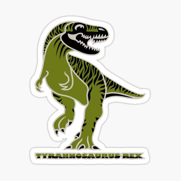 Tyrannosaurus Rex Dinosaur Coloured with Name Artwork Sticker