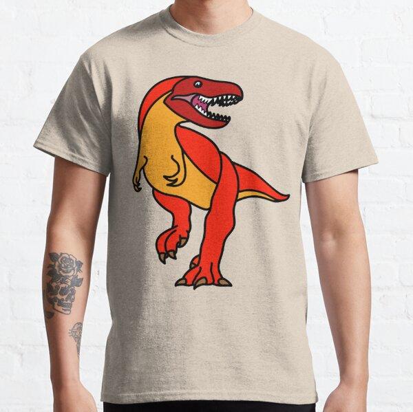 Tyrannosaurus Rex Dinosaur Red Orange Artwork Classic T-Shirt