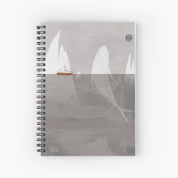 Red Ship Spiral Notebook