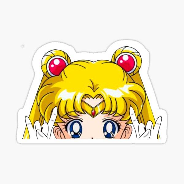 Sailor Moon Metal Head Peeker Window Water Bottle Vinyl Car Sticker Decal Sticker