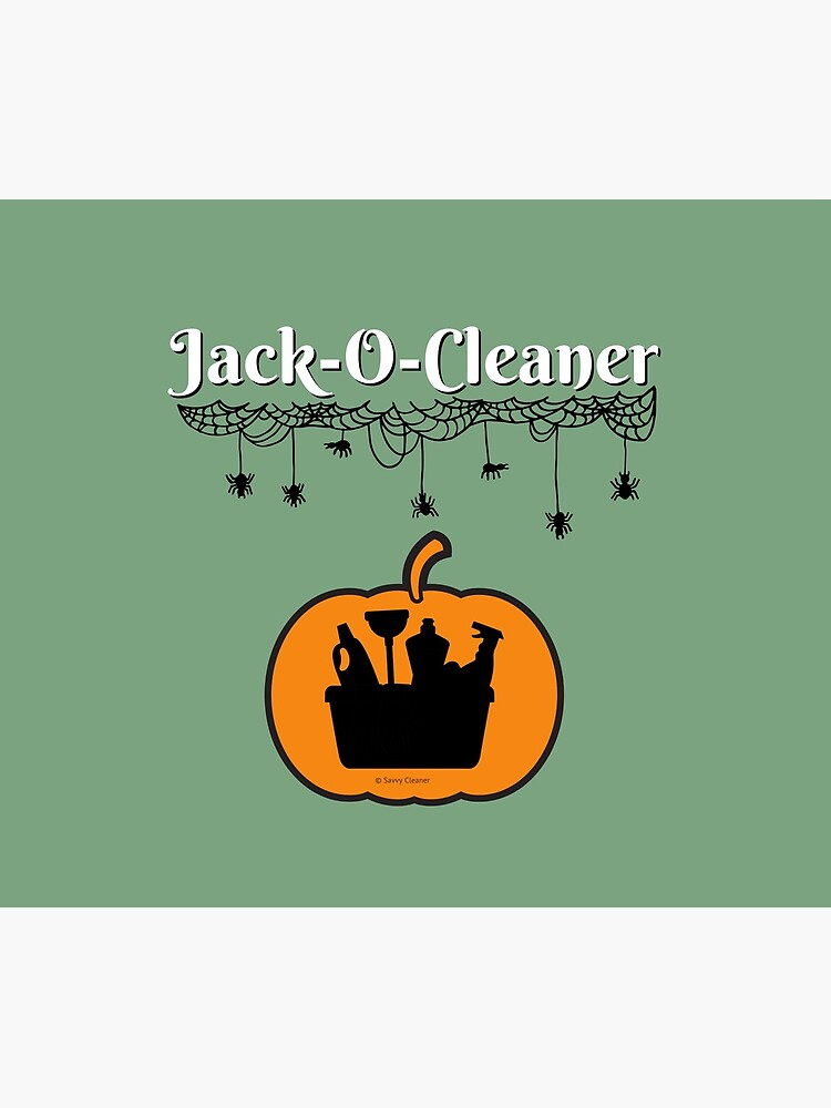 Jack-O-Cleaner Funny Cleaning Halloween Cleaning Pumpkin Fun by SavvyCleaner