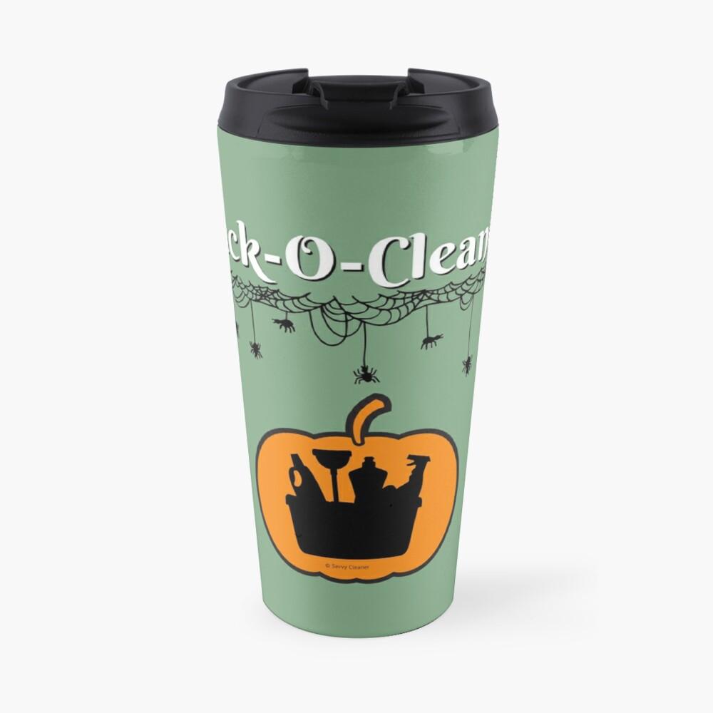 Jack-O-Cleaner Funny Cleaning Halloween Cleaning Pumpkin Fun Travel Mug