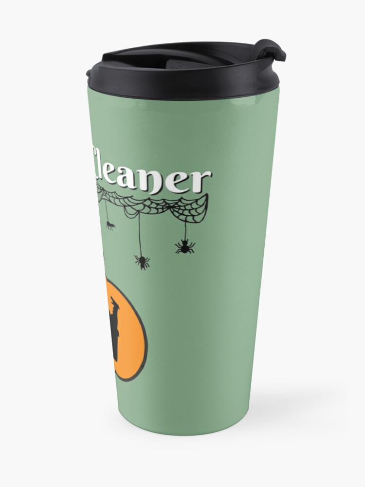 Alternate view of Jack-O-Cleaner Funny Cleaning Halloween Cleaning Pumpkin Fun Travel Mug