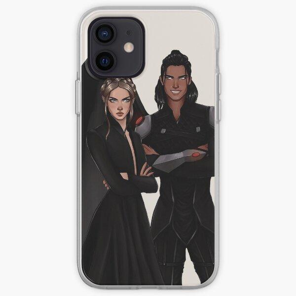 Nesta and Cassian fanart. iPhone Soft Case