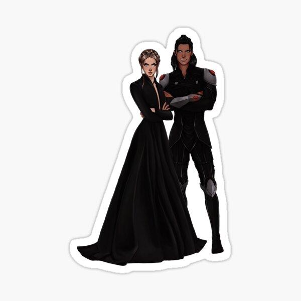 Nesta and Cassian fanart. Sticker