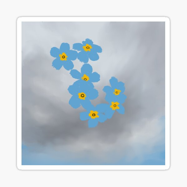 A Piece of the Grey Sky Sticker