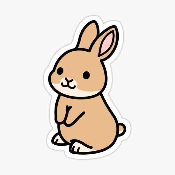 Brown Bunny Sticker