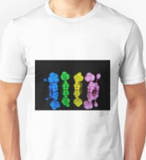 Colorful twisted balloon animal poodles on glass T-Shirt