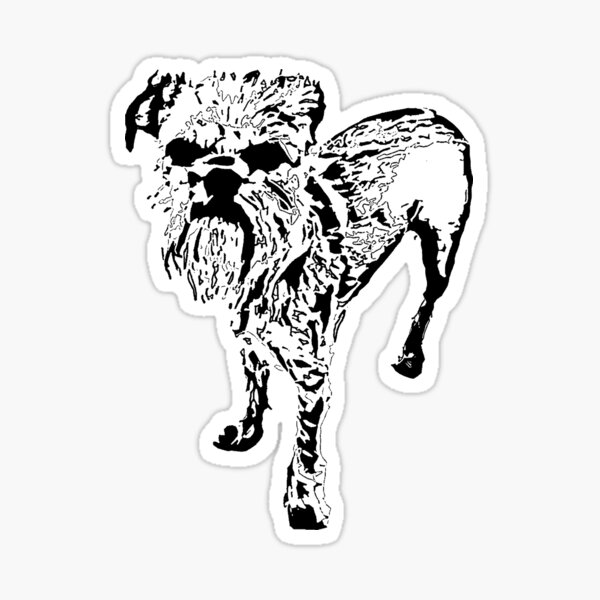 Griffon bruxellois  Sticker