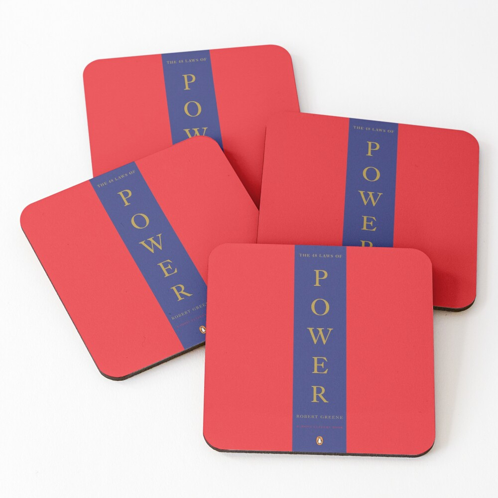 The 48 Laws Of Power by Robert Greent Coasters (Set of 4)