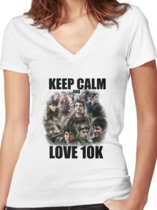 Keep Calm and Love 10K - Z Nation Shirt Women's Fitted V-Neck T-Shirt