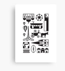 Icons of Melbourne Canvas Print