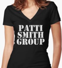 Patti Smith Shirt Women's Fitted V-Neck T-Shirt