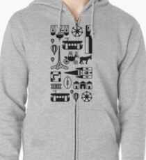 Icons of Melbourne Zipped Hoodie