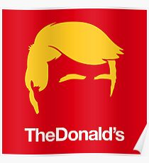 TheDonald's | Red Poster