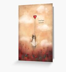 loVe from up above Greeting Card
