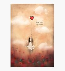 loVe from up above Photographic Print