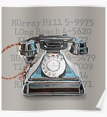 Vintage Telephone Poster