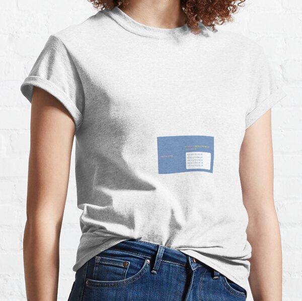 Sinclair ZX81 BASIC MOCK UP - HELLO WORLD! Classic T-Shirt