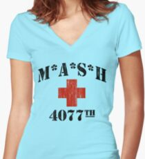 MASH Women's Fitted V-Neck T-Shirt