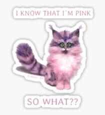 I know that I´m pink... Sticker