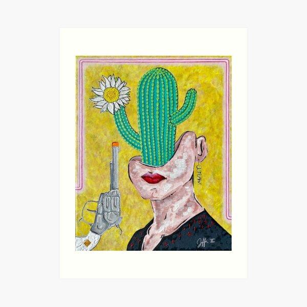 Cactus Head Art Print