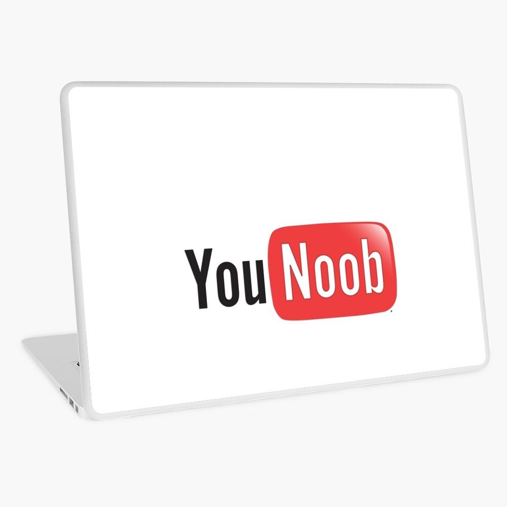 Youtube Parody You Noob Internet Meme Shirt Laptop Skin By