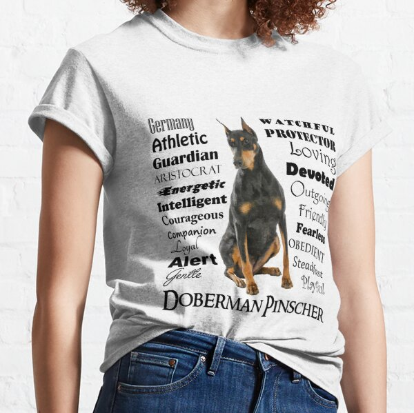 Black and Tan Doberman Traits Classic T-Shirt