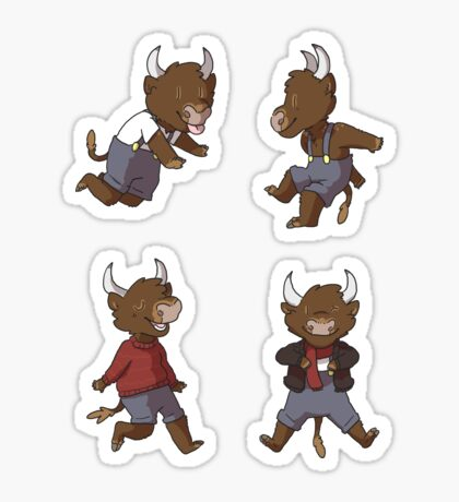 Mini Bulls Sticker