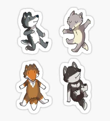 Mini Wolves Sticker