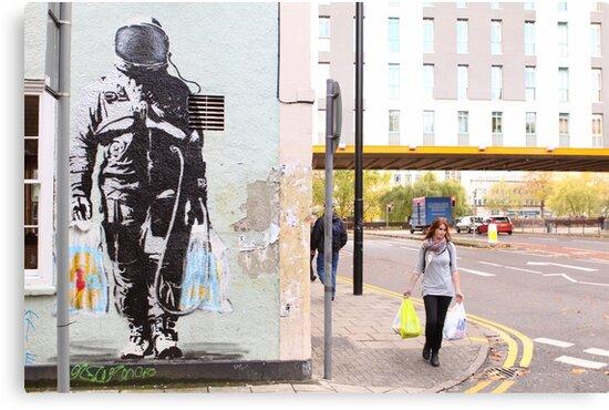 Urban Spaceman - SQPR - Stokes Croft - Bristol by RedSteve