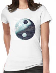 Sea Yin Yang Womens Fitted T-Shirt