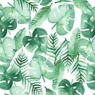 Tropical Jungle on White by Tangerine-Tane