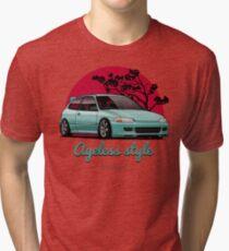 Ageless Style Civic EG (aquamarine) Tri-blend T-Shirt