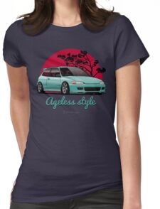 Ageless Style Civic EG (aquamarine) Womens Fitted T-Shirt