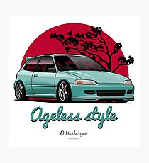 Ageless Style Civic EG (aquamarine) Photographic Print