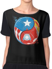 THE 2 SIDES OF THE WAR Women's Chiffon Top