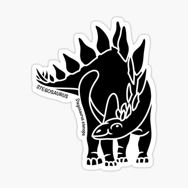 Stegosaurus Dinosaur Silhouette with Name Artwork Sticker
