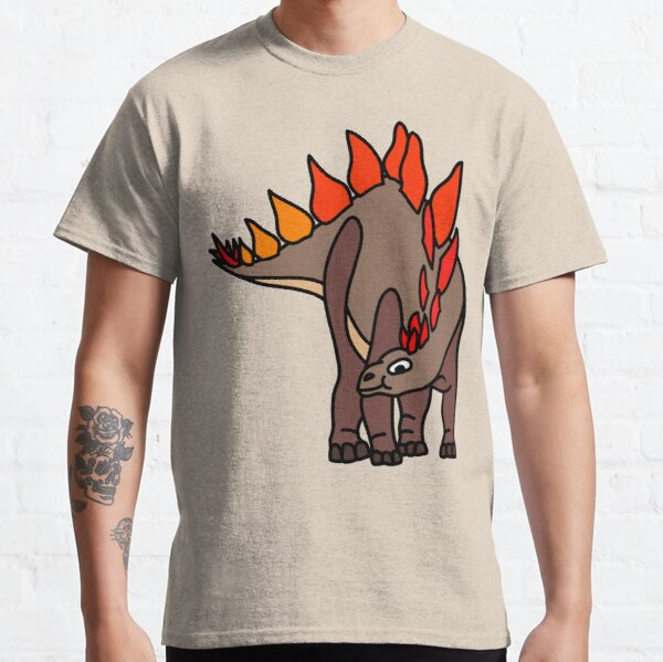 Stegosaurus Dinosaur Coloured Artwork Classic T-Shirt