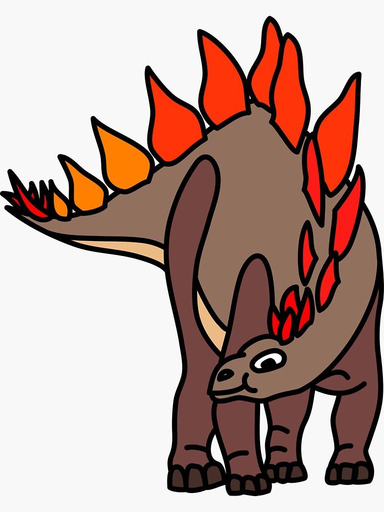 Stegosaurus Dinosaur Coloured Artwork by BOLD-Australia