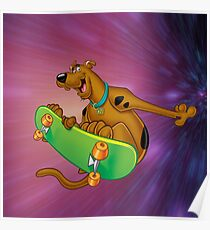 scooby on the board Poster