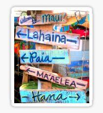 maui towns sign Sticker