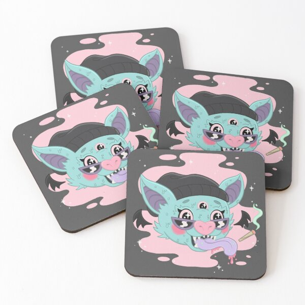 STONER BAT Coasters (Set of 4)