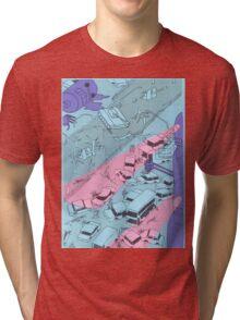 Alien Robot Attack Tri-blend T-Shirt