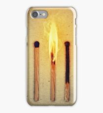 burning alone iPhone Case/Skin