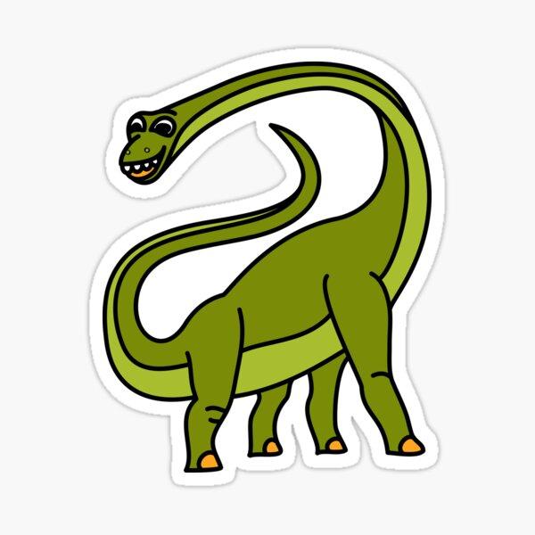 Brachiosaurus Dinosaur Coloured with Name Artwork Sticker