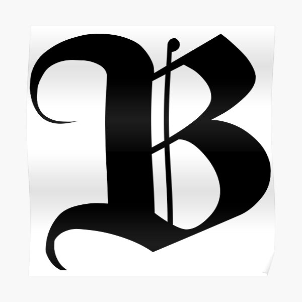 The letter B - Monograms initials Poster