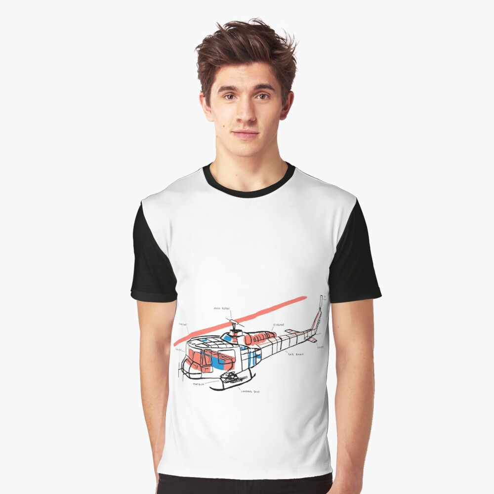 Helicopter Graphic T-Shirt Front
