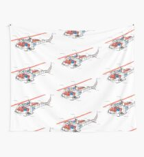 Helicopter Wall Tapestry